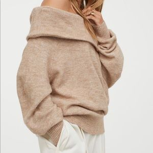 H and m off the shoulder oversized sweater